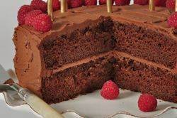 Chocolate Butter Cake covered with Chocolate Frosting