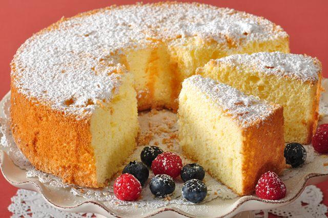 Light Fluffy Eggless Sponge Cake Recipe