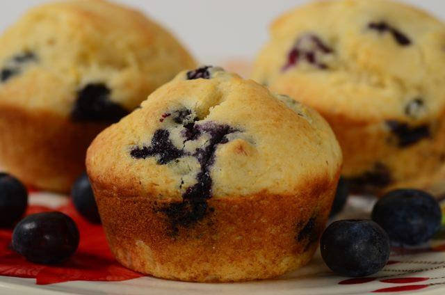 Blueberry Cornbread Muffins - Joyofbaking.com *Video Recipe*