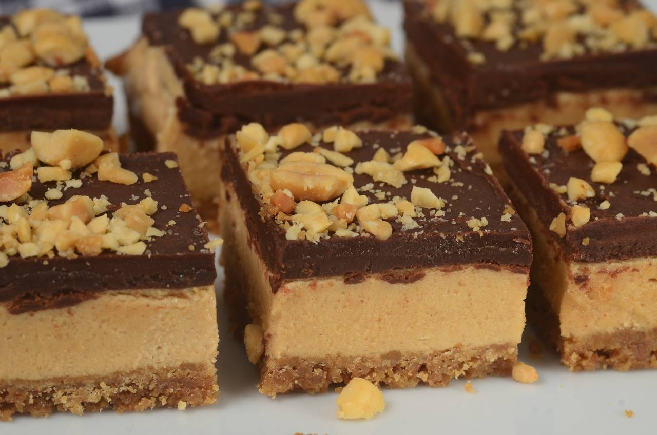 Chocolate Peanut Butter Bars Joyofbaking Com Video Recipe