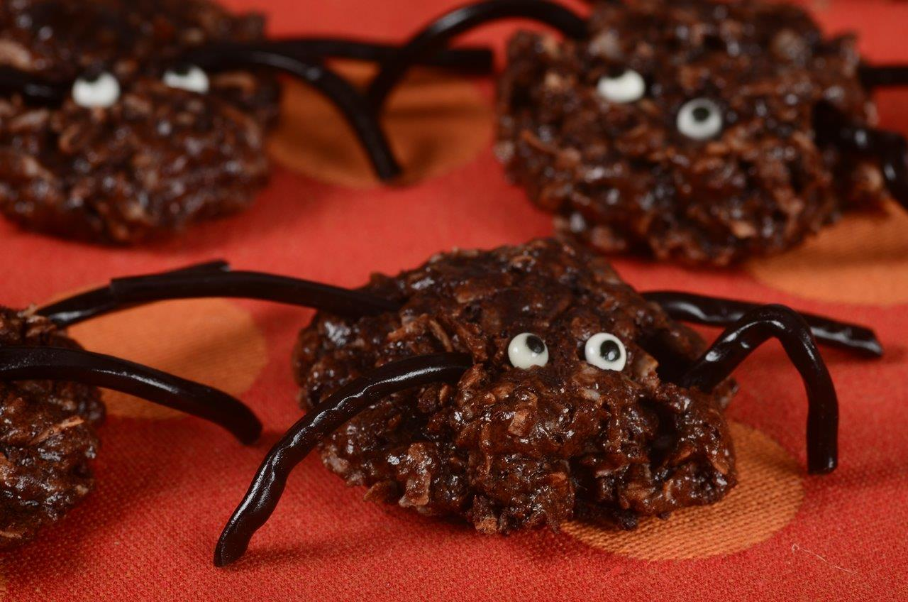halloween cookies chocolate spiders - Halloween Chocolate Spiders