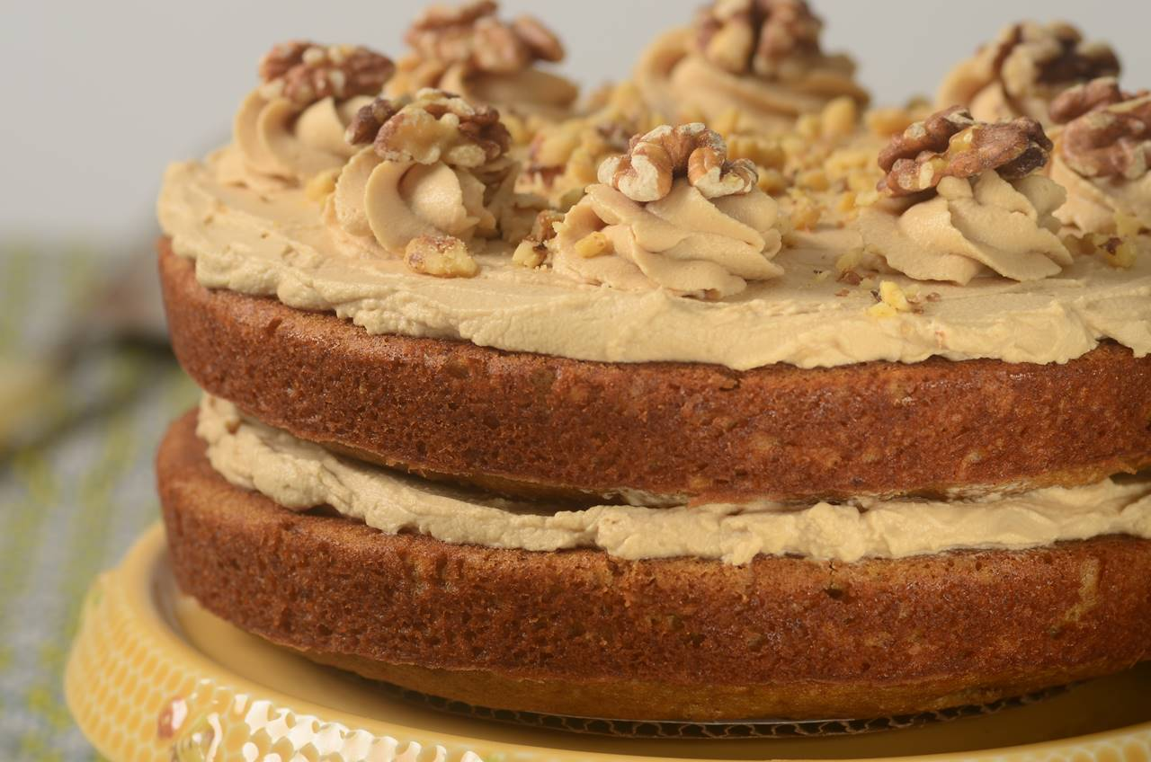 Apple Date Walnut Cake Recipe