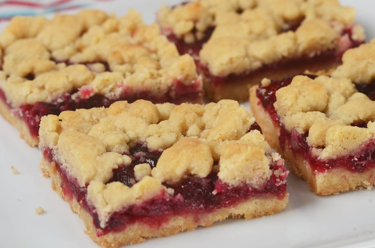 Cranberry Shortbread Bars Joyofbaking Com Video Recipe