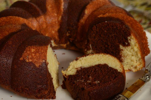 Banana Chocolate Marble Cake