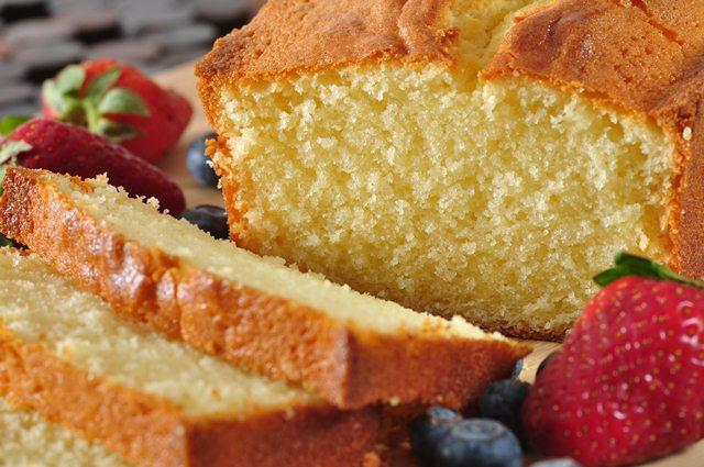 Golden Vanilla Pound Cake