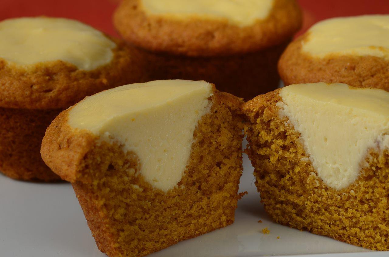 Pumpkin Cream Cheese Muffins - Joyofbaking.com *Video Recipe*