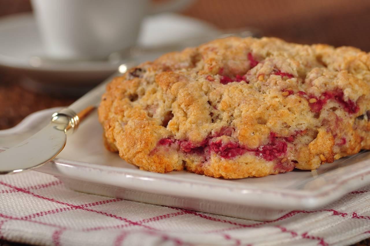 Raspberry Scones Recipe - Joyofbaking.com *Video Recipe*