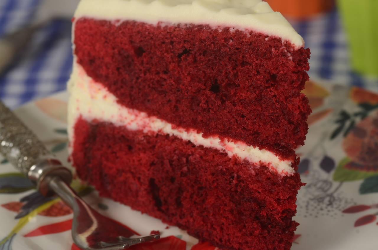 Red velvet cake Red Velvet Cake Recipe amp Video Joyofbakingcom Video Recipe