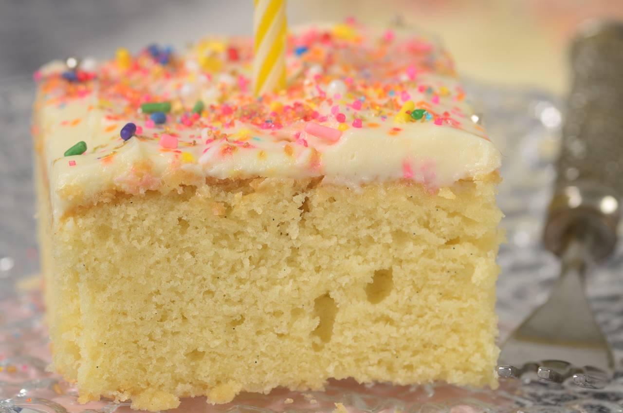 Vanilla Sheet Cake Joyofbaking Com Video Recipe