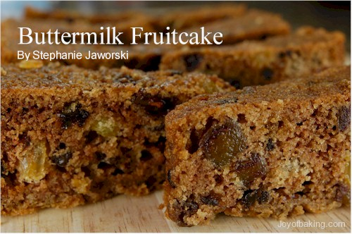 Buttermilk Fruit Cake Recipe