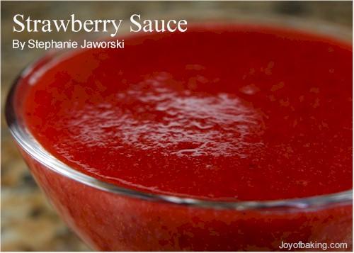 Strawberry Puree Recipe Joyofbaking Com Tested Recipe