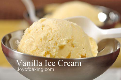 Vanilla Ice Cream - Joyofbaking.com *Video Recipe*