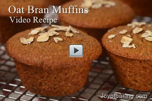 oatbranmuffins - Oat Bran Muffins Video Recipe - Joyofbaking.com