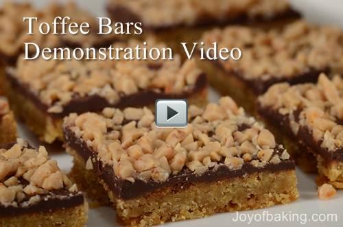 Toffee Bars Recipe & Video - Joyofbaking.com