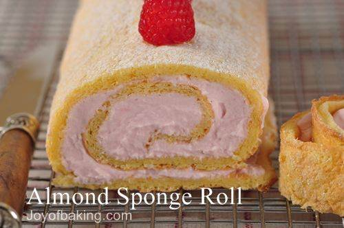 Ribbon Cake Recipe Joy Of Baking: Almond Sponge Roll Recipe With Picture