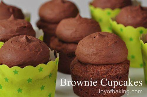 Brownie Cupcakes Recipe - Joyofbaking.com *Video Recipe*