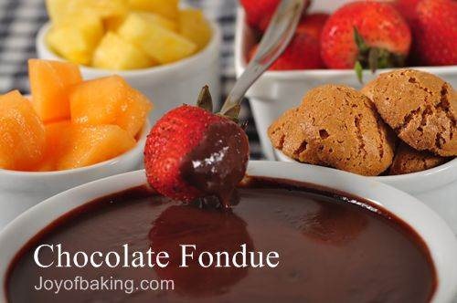 best chocolate fondue recipe