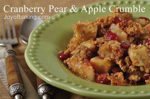 Cranberry Pear and Apple Crumble - Joyofbaking.com *Video Recipe*