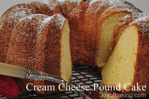 Cream Cheese Pound Cake Cream cheese pound cake