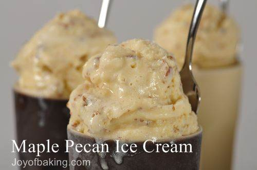 Maple Pecan Ice Cream Recipe