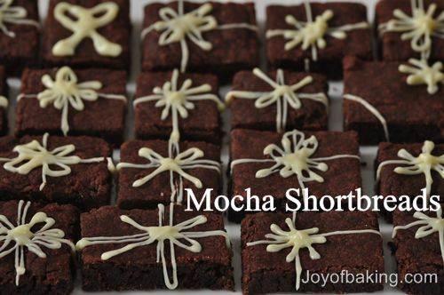 Mocha Shortbread Recipe - Joyofbaking.com *Tested Recipe*