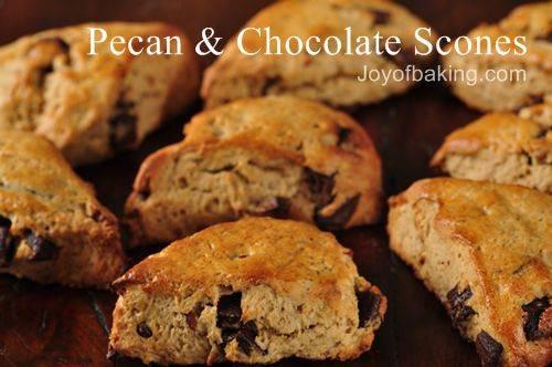 Pecan Chocolate Scones Recipe