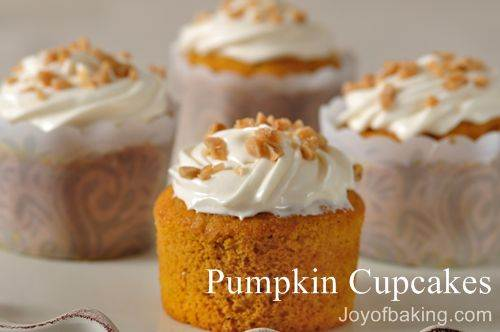 Pumpkin Cupcakes Recipe Inspiration Of Pumpkin Cupcakes Recipe  Joyofbaking.com Image