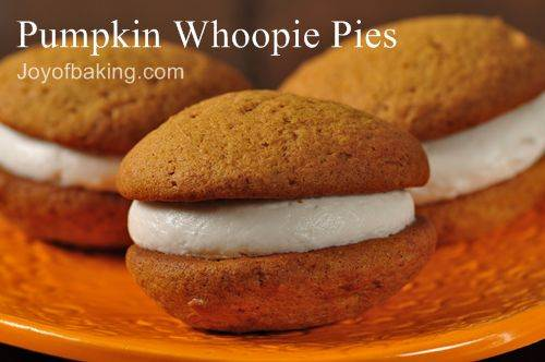low fat biscuit recipes: Pumpkin Whoopie Pies Recipe - Joyofbaking.com