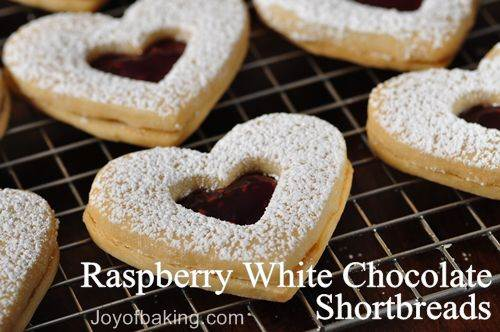 Raspberry White Chocolate Shortbreads Tested Recipe