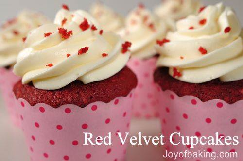 Red Velvet Cupcakes, courtesy of JoyofBaking.com