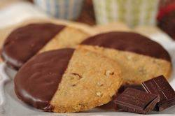 Recipe: Chocolate Dipped Pecan Shortbread | Joy of Baking